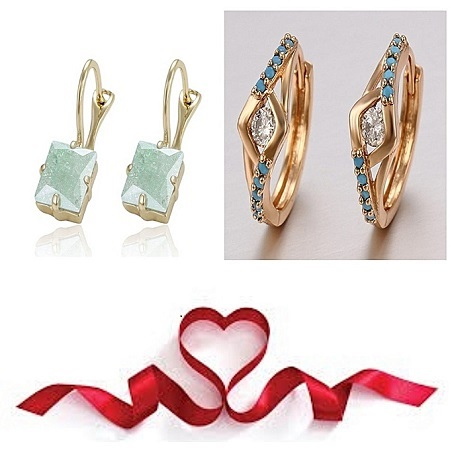 CarJay Jewels Gold Coated 2 pairs Earring hoops
