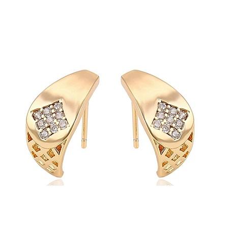 CarJay Jewels Gold Coated Earring Studs.