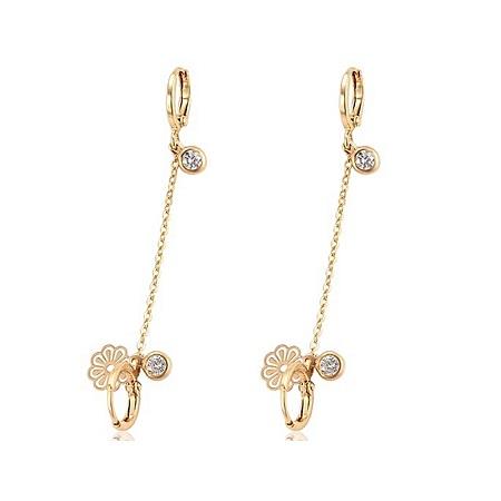 CarJay Jewels Gold Coated Double Earring Loops