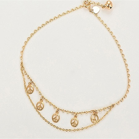 CarJay Jewels Gold Coated Anklet