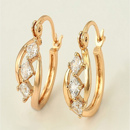 CarJay Jewels Gold Coated Earring Hoops.