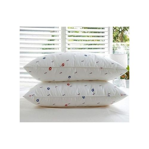 Set of 2 Bed Pillow (Pair- Pure fibre filled).