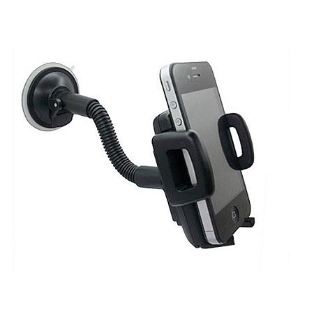 Universal Adjustable Plastic Car Phone Holder - Black