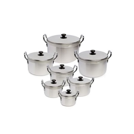 Generic 14 Pcs Stainless Steel Cookware Pot Sufuria Set