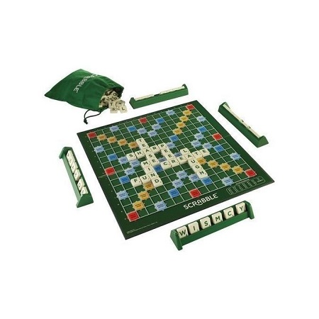 Generic Scrabble Board Word Finder- 4 Racks- Bag of Tiles-Green