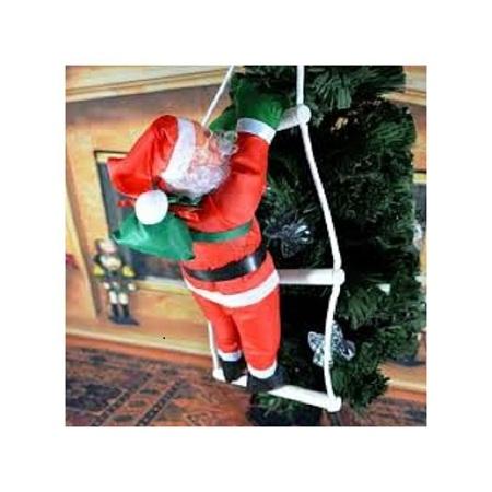 Christmas Hanging Santa Claus Climbing Ladder