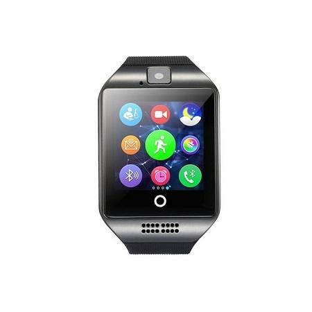 Q18 smart watch SIM card slot fitness activity tracker-Black