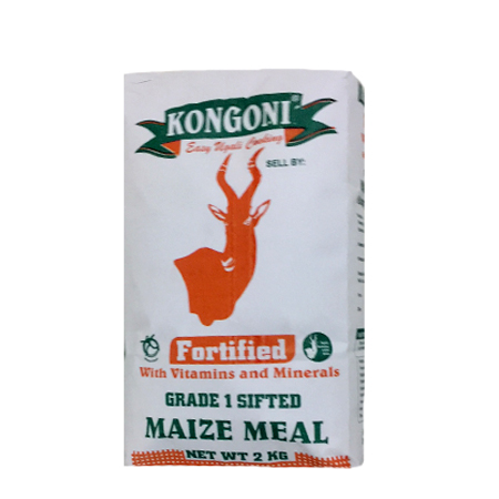 Kongoni Grade 1 Sifted Maize Meal 2 Kg -12 Pieces