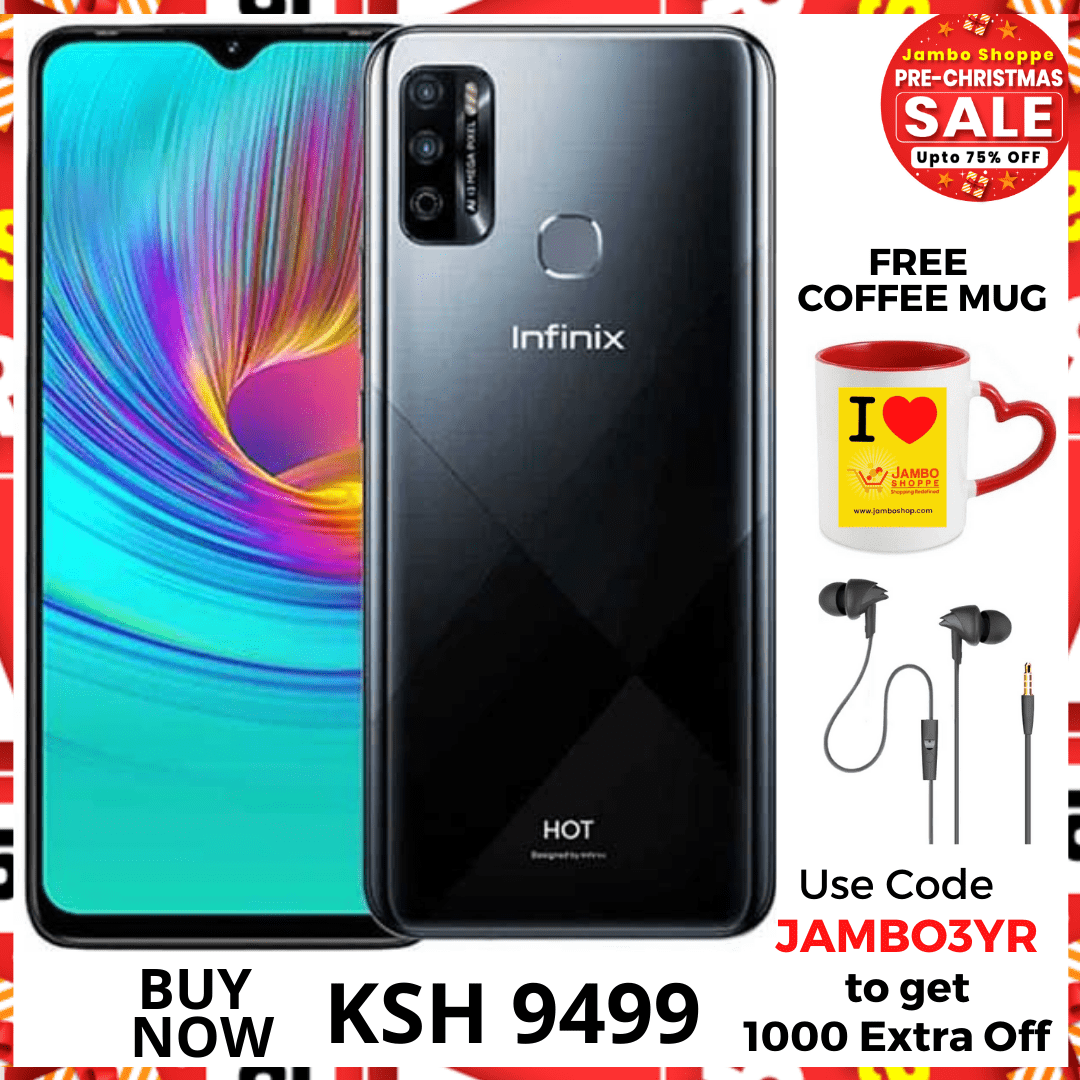 Infinix Hot 8 Lite: 6.6 inch, 2GB + 32GB (Dual SIM) 3G- Shark Grey. Grab 10% Extra Off Deal