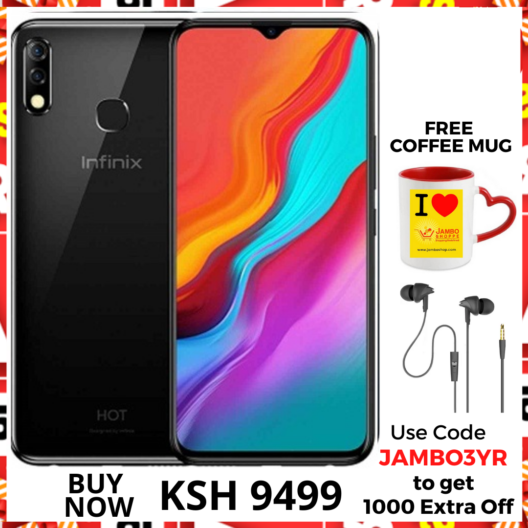 Infinix Hot 8 Lite: 6.6 inch, 2GB + 32GB (Dual SIM) 3G- midnight black Grab 10% Extra Off Deal