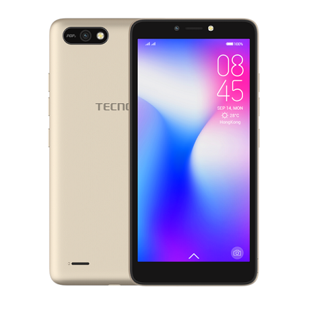 Tecno POP 2F: 16GB+1GB RAM, 5.45 inch Screen, Dual SIM- Black