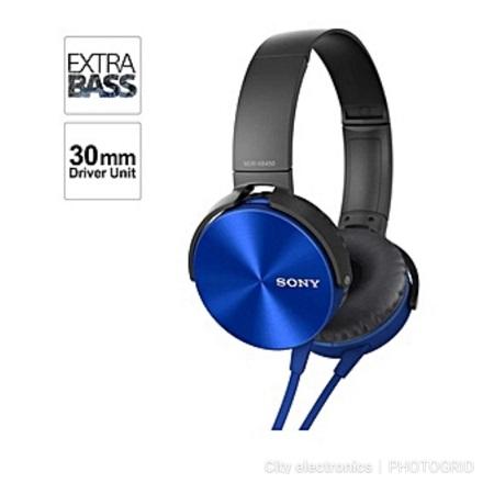 Sony MDR - XB450AP - Extra Bass Headphones - BLUE
