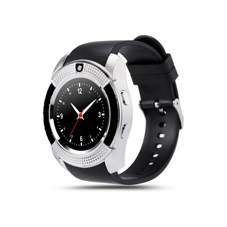V80 Touch Screen Smart Watch Phone with SIMSlot-Silver/Black