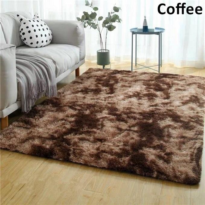 Coffee Brown-Fluffy Carpet 5*8