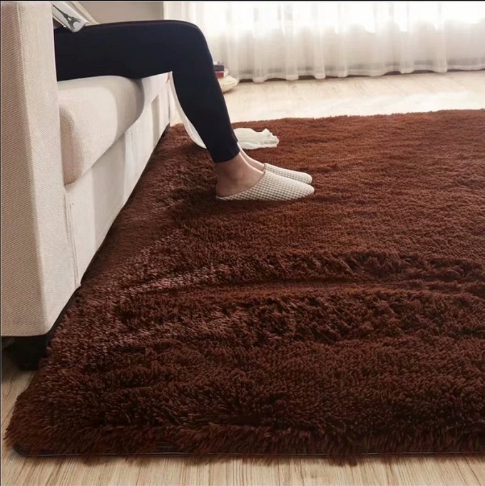 Coffee-Shaggy Carpet 5*8