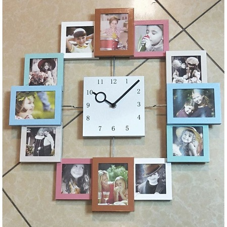 Wall clock big 50 cm diameter Age series