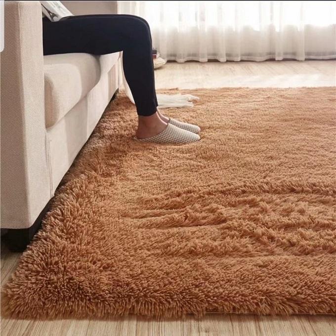 Dark Brown-Shaggy Carpet 5*8