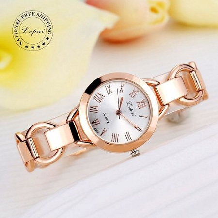 Lvpai Women Rose Gold Watch