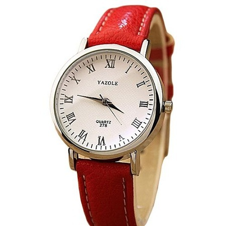 Yazole Red Chronograph Women's Watch