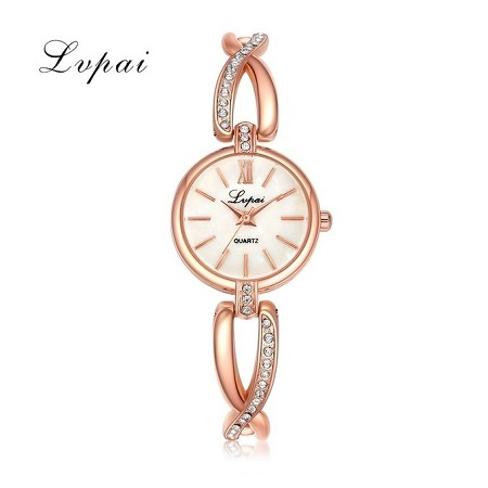 Lvpai Women Rose Gold Quartz Watch Gold