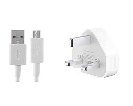 Mobile Phone Charger - 3 Pin - White
