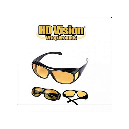 Fashion HD Night Vision Driving Glasses - Yellow