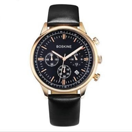 Boskine Luxury Brand Watches Quartz Watch Fashion Leather Belts Sport Male Wristwatch