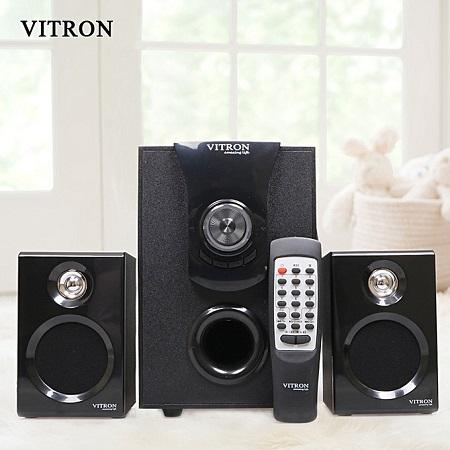 Vitron V411D Sound System 2.1 Speaker Subwoofer 25W - Black