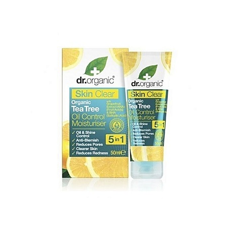 Dr. Organic Skin Clear Organic Tea Tree Oil Control Moisturiser - 50ml