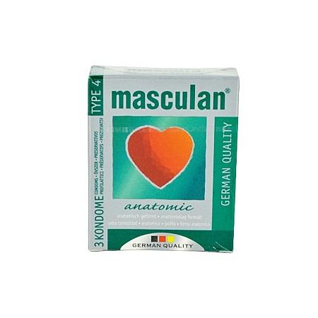 Masculan Anatomic Condoms 3's