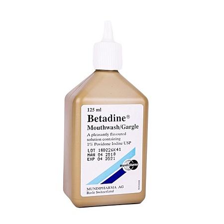 Betadine Mouthwash Gargle-125ml