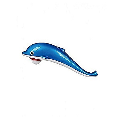 Mini Dolphin Infrared Massager Battery/Electricity Powered - White & Blue