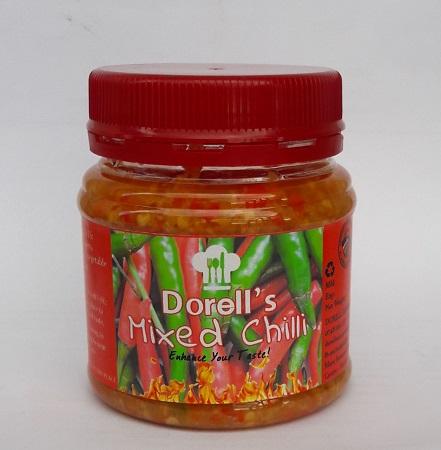 Dorell's Mixed Chilli- Plain 200g ( Pilipili ya Kukaanga )