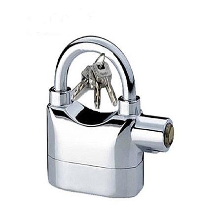 Alarm Security Padlock - Silver