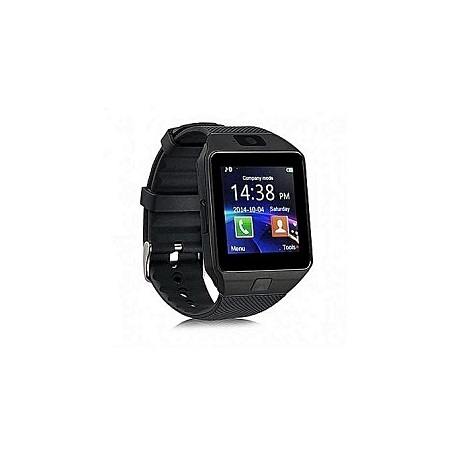 Generic DZ09 - 1.56 Smart Watch - 0.3MP Camera Touch Screen - Black