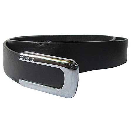 Fashion New Men's Leather Belt Casual Business- Black