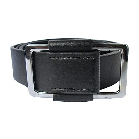 Fashion Free Style Men's Leather Belt Casual Business- Black