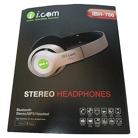 ICOM Bluetooth Headphones Wireless Stereo/MP3/Fm Radio