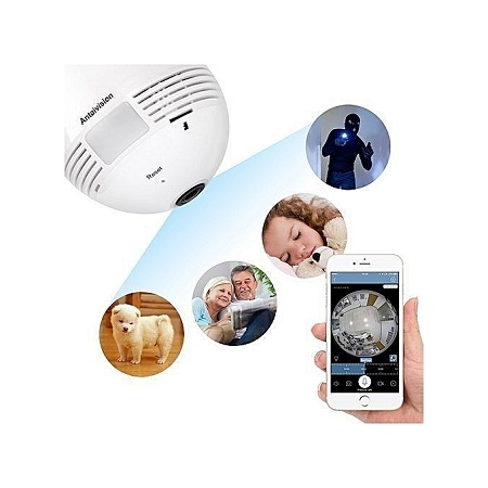Nanny camera - Night Vision Camera 360 Degree Panoramic CCTV Security Wireless IP Wifi Light Bulb Camera