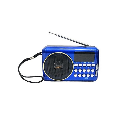 Rechargable Digital Selects Music Player/Fm Radio with usb and memory slot - Blue