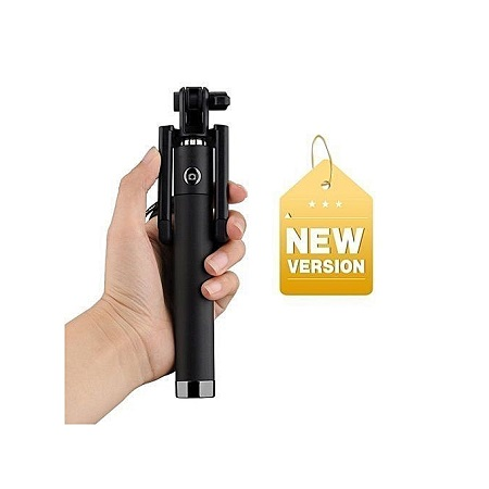 Selfie Stick Extendable Latest Version Wired - For Andriod