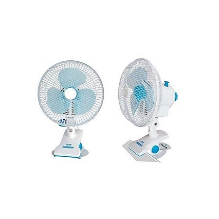 Table Clip Powerful cooler Fan - White
