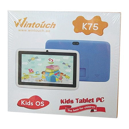 WINTOUCH C75 - Kids Tablet - Dual Core - 7 Inch - 8GB ROM - 512MB RAM - 0.3MP Camera - Wi-Fi – Blue