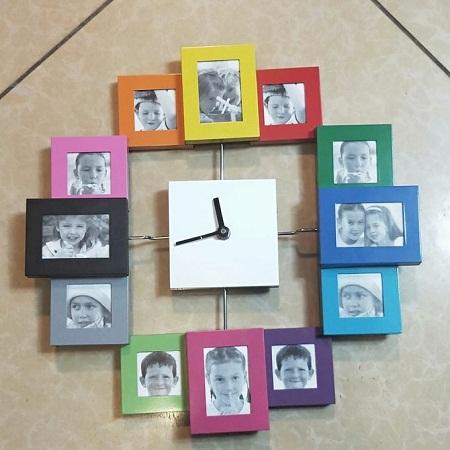 Wall clock big 50 cm diameter Age series