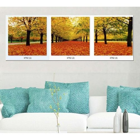 Modern Canvas Tree Painting Print Picture Home Wall Art Decoration Framed 3Pcs