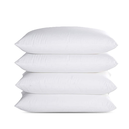 Fiber Hollow Pillow 4 Pieces In 1 Set- White 750 Grams For Each Pillow