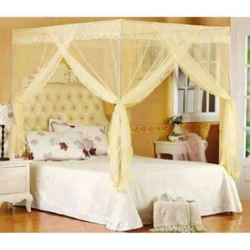 Mosquito Net With Metallic Stand- Cream