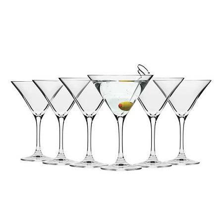Martini cocktail glasses crystal 6pcs