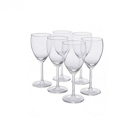 Thick Wine Glasses - 6 Pieces crystal