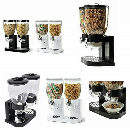 Cereal Dry Food Dispenser Storage Container Dispense Kitchen Machine